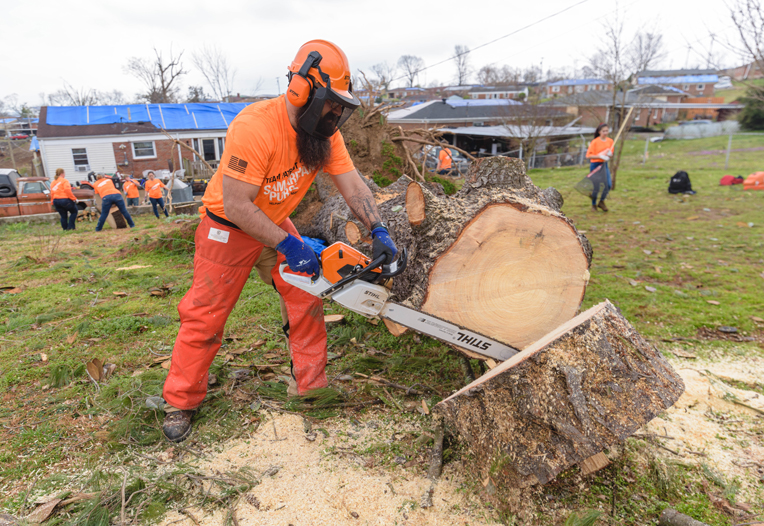 More than 6,000 volunteers, including 12 Team Patriot volunteers, helped homeowners in Middle Tennessee.