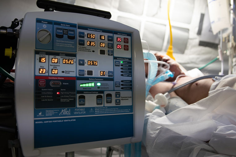 Many elderly patients end up on ventilators, which have been in short supply since the coronavirus pandemic became so widespread.