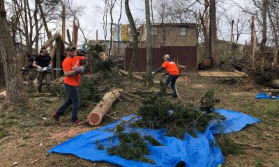 Volunteers are at work in Middle Tennessee to help homeowners in Jesus' Name.