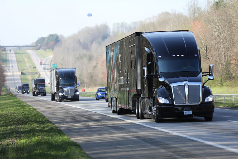 Our trucks left North Carolina on March 28 to transport the field hospital.