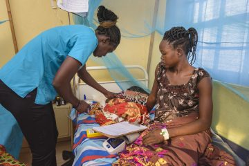 Staff at Maban County Hospital serve women and their families in Jesus' Name.
