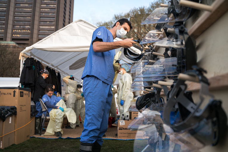 Masks and personal protective equipment are critical safety measures for our team.