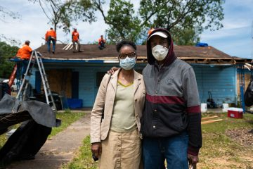 Marion and Lee Velma Prudhomme are grateful for the work of Samaritan's Purse at their home where an EF-3 tornado shook their lives on Easter.