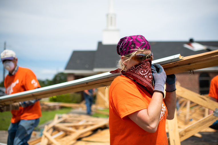 Samaritan's Purse volunteers continue to assist communities in West Monroe, Louisiana.