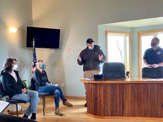 Samaritan's Purse President Franklin Graham speaks at a local meeting in Alaska this week.