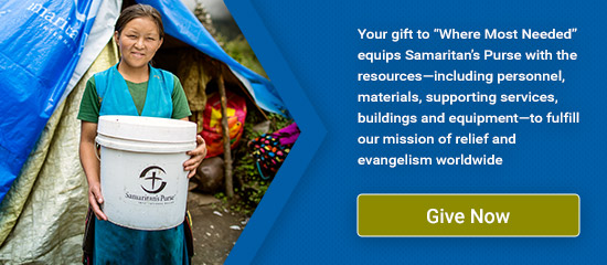 Give Now to Where Most Needed