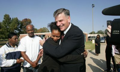 Samaritan's Purse president Franklin Graham met with New Orleans residents in the days following Hurricane Katrina.