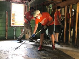 Volunteers started working May 24 cleaning up homes in Midland, Michigan.