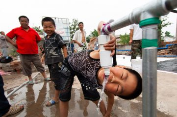 Samaritan's Purse provided clean water to earthquake-devastated areas of China's Sichuan Province.