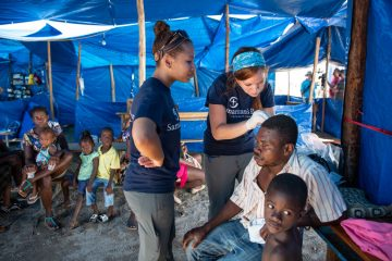 In addition to cholera, our team treated injuries sustained during the hurricane.