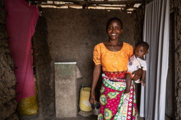 Eunice and her family are much healthier now that they have clean water access.