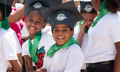 Boys and girls in the Dominican Republic celebrate their graduation from The Greatest Journey discipleship course.