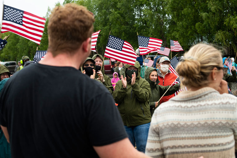 Each week of the Operation Heal Our Patriots summer season, couples are greeted upon arrival at Samaritan Lodge Alaska—a cherished, and often emotional, moment for many wounded veterans and their spouses. Please pray as God works in the lives of couples this week.