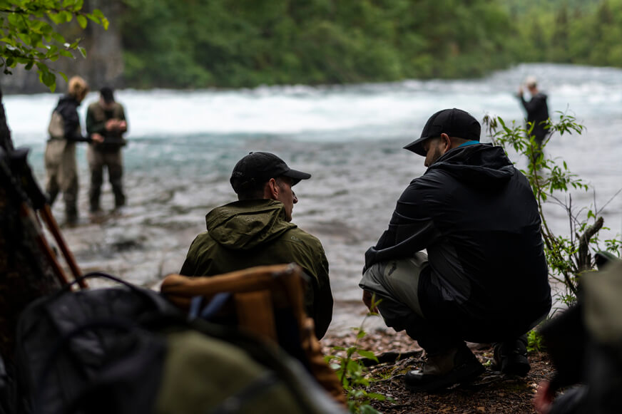 Wilderness excursions provide time for chaplains to talk with veterans and their spouses.