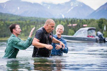 Army Corporal Hamilton Kinard received Jesus Christ as Lord and Savior and was baptized in Lake Clark.