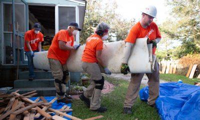 Samaritan's Purse volunteers are removing damaged belongings and helping homeowners rebuild after Hurricane Dorian.