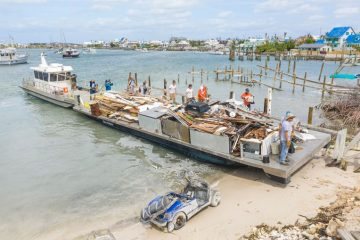 We cleared so much storm debris that it filled 67 barges.
