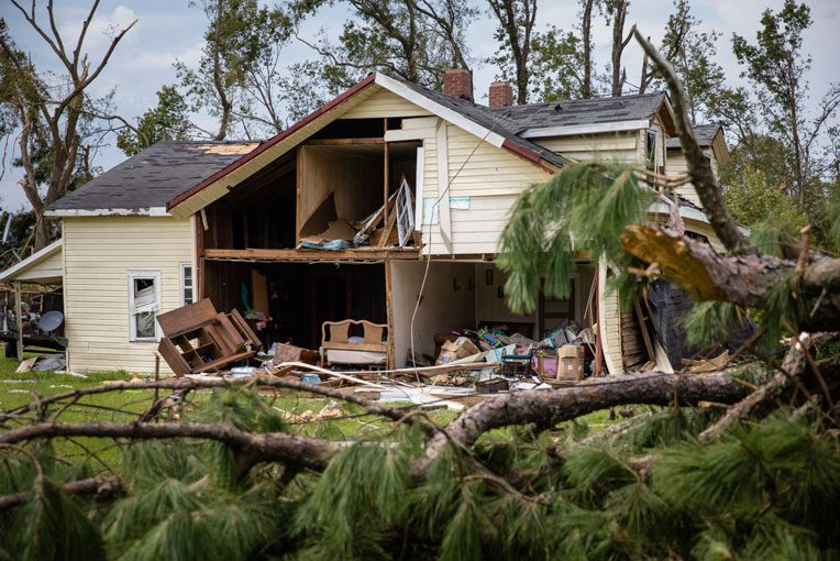 The EF-3 twister damaged and destroyed homes throughout Bertie County.