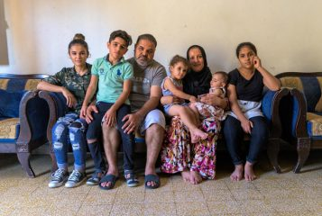 *Rahim, his wife Nazia, and their six children celebrate the basic gift of life, being together, and having daily provisions following the tragic blast that rocked their city weeks ago.