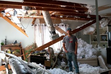 Garrison stayed to weather the storm until Laura intensified to a category 4 hurricane.