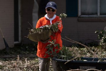 Volunteer Delia Viator from Lafayette, Louisiana, volunteered with our teams in Lake Charles. She believes a devastating flood she experienced years ago prepared her to serve others in need.