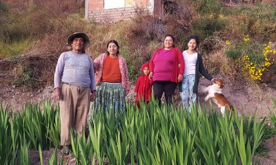 Lilian and her family in Bolivia