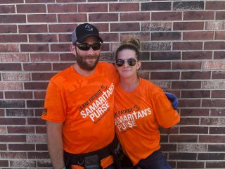 Team Patriot volunteers Kevin and Amanda Kennedy.