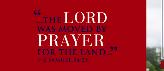 The Lord was moved by prayer for the Land - 2 Samuel 24:25
