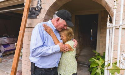 Franklin Graham met with distraught Houston homeowners in the days after the storm.