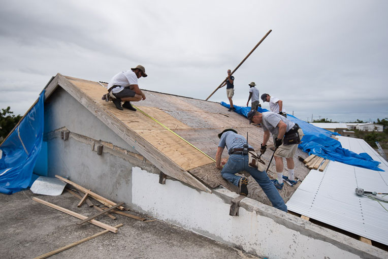Following our relief work in the Caribbean, Samaritan's Purse teams also helped homeowners in the islands rebuild or repair their homes.