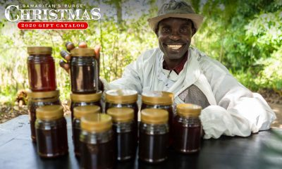 David is able to provide for his family through the income from his beekeeping efforts.