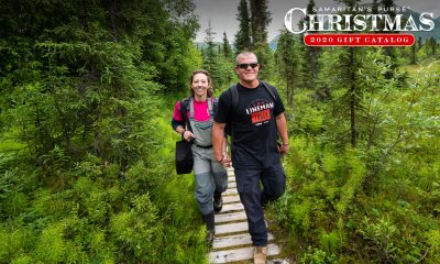 Jake and Susan Southern walk through the Alaska wilderness.