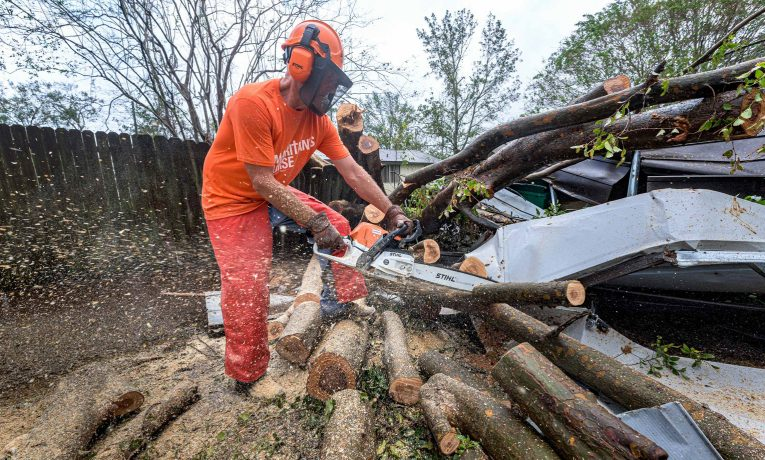Volunteers are still hard at work in the aftermath of Hurricane Sally.