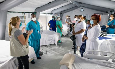 Our field hospital is now ready to receive patients.
