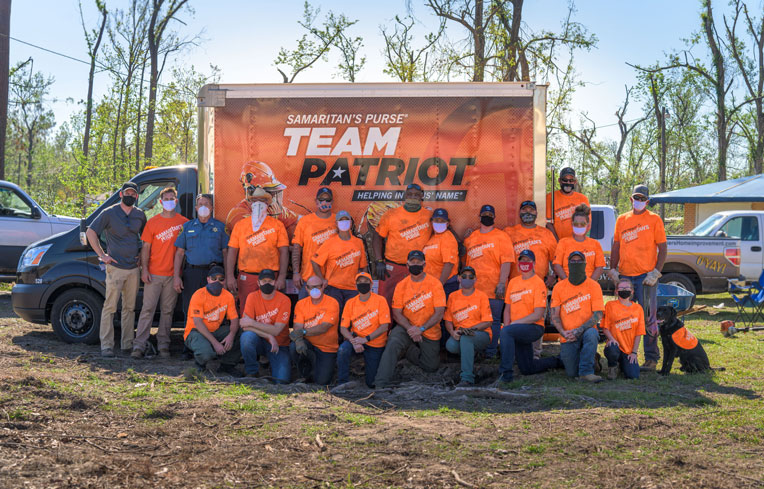 Team Patriot volunteers are uniquely equipped to deploy in the aftermath of disaster.