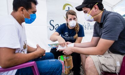 Samaritan's Purse staff share the Gospel with Israel at our Emergency Field Hospital.