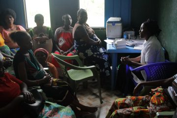 Mothers at the Shari Health Center receive training in how to care for their children and provide for their nutrition.
