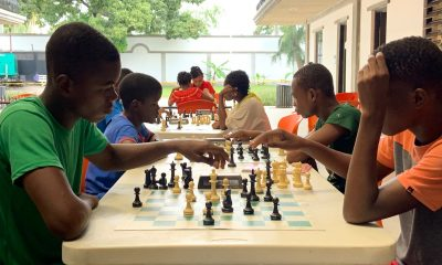Playing chess is both a favorite pastime and serious undertaking for many students at the Greta Home and Academy. Several chess club members compete at an international level.