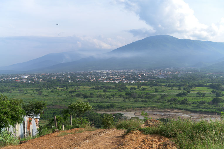 From this hill above the Maria Auxiliadora neighborhood in Colombia, one can see across the river into Venezuela.