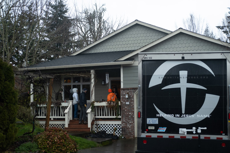 We are also working in Oregon assisting homeowners with clean up after ice storms downed trees and damaged homes.