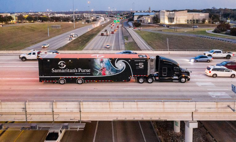 Our Disaster Relief Unit arriving in Austin, Texas.