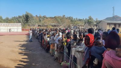 Hundreds of thousands of displaced people have left rural areas for urban centers in Ethiopia's Tigray region.