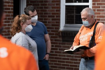 Tiffany and Brian Johnson woke Valentine's Day to frantic children and a flooded home.