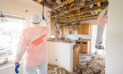 Samaritna's Purse volunteers at work in an Austin, Texas, home that was damaged by recent winter storms.