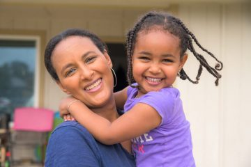 Netsi Akalu and her  daughter are recovering after burst pipes caused flooding in their home.