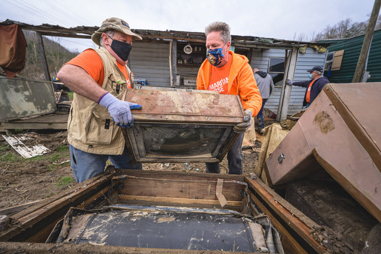 The historic flooding in eastern Kentucky devastated hundreds of homes.