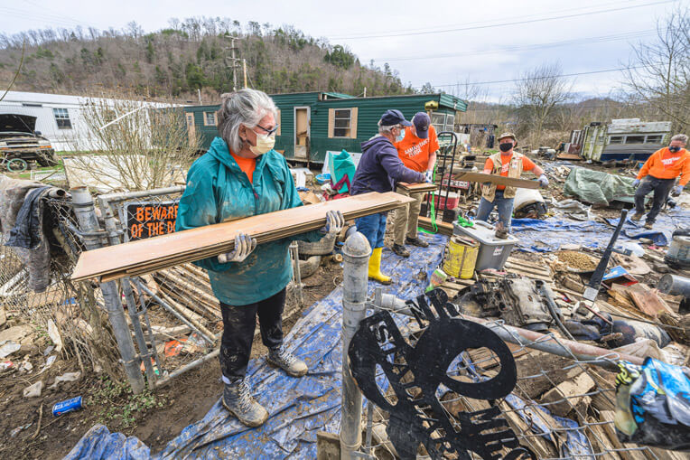 And volunteers quickly responded to the hard-hit area of the Bluegrass State.