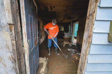 Volunteer John Ramsey says this part of eastern Kentucky feels like home to him.