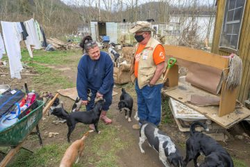 She wasn't sure what to do next, but she was grateful to God that she and her beloved dogs were spared.