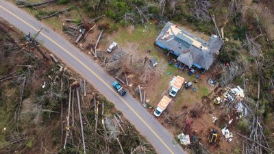 Storms that spawned tornadoes across the southeast devastated neighborhoods.